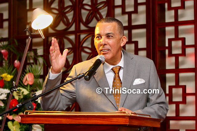 His Excellency Anthony Thomas Aquinas Carmona, SC delivers remarks