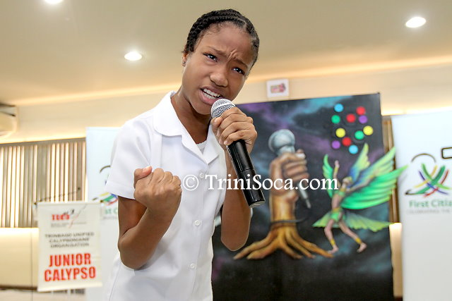 2018 Junior Calypso Monarch third place winner, A'janae King Fraser
