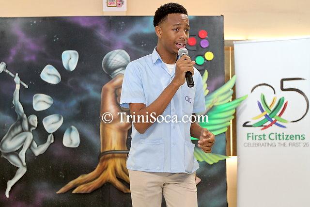2018 Junior Calypso Monarch, Duane Ta'zyar O'Connor during his calypso performance