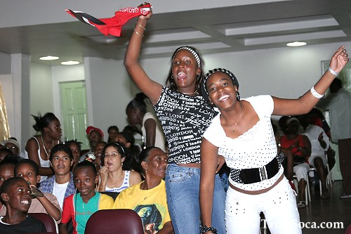Enthusiastic Audience at Schools Soca Monarch Competition