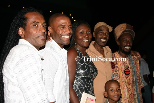 RIGHT: 'Brother Resistance', 'Mighty Duke', his wife Rebecca and three sons