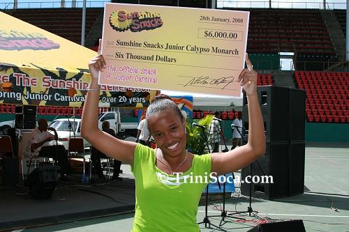 Megan Walrond, Junior Calypso Monarch 2008