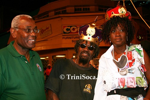 POS Mayor Murchison Brown with the King and Queen of Jouvert