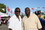 Left: Mayor of Arima, Alderman Eustace Nancis and Mr. Q