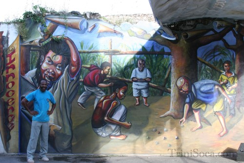 The Mural 'Innocence' done by Wayne 'Rafiki' Morris